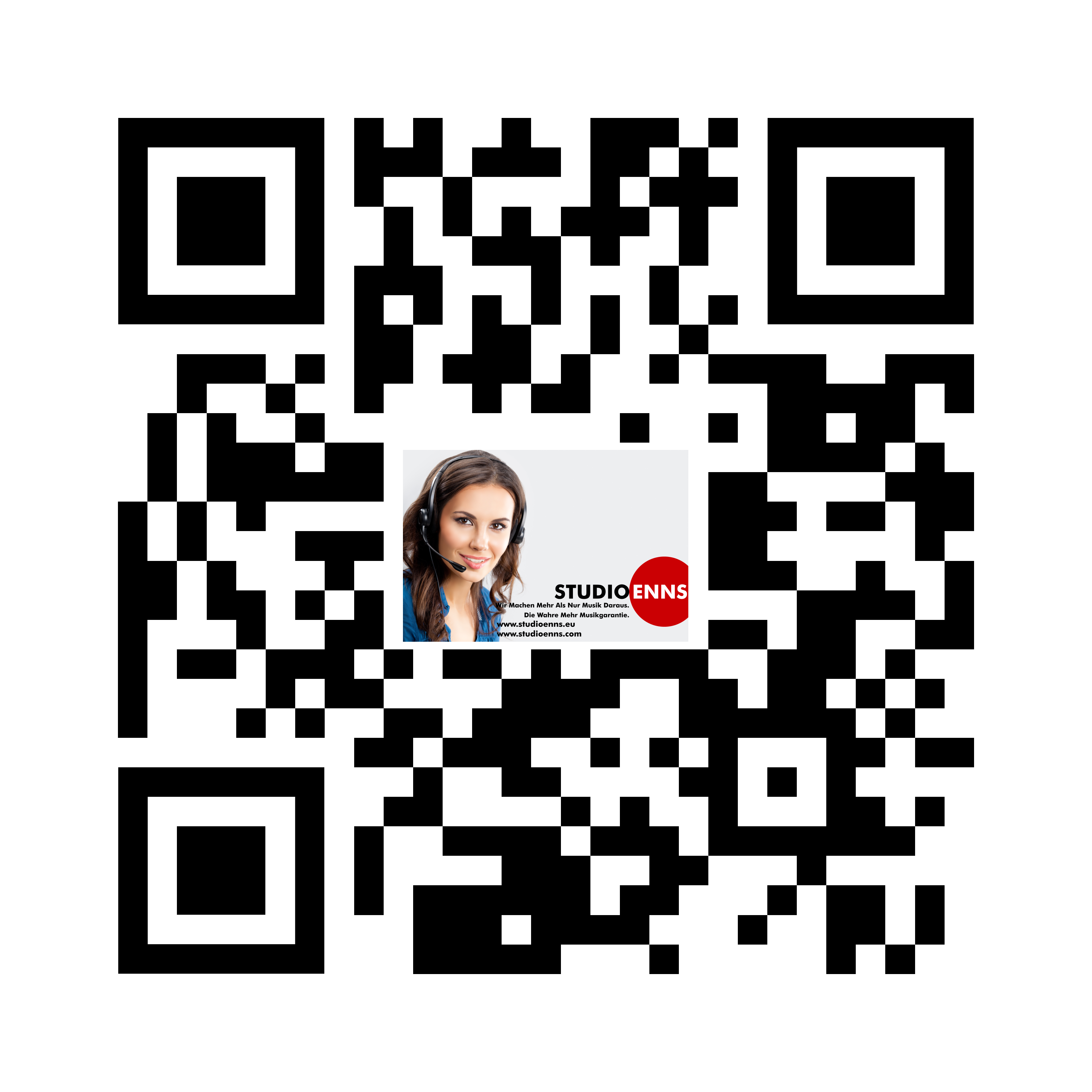 QR Code for for our homepage www.studioenns.eu